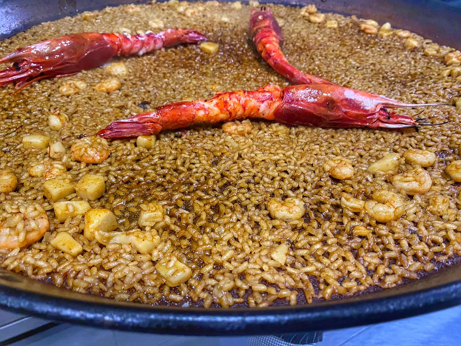 Arroz con carabineros restaurante Rocacho Madrid