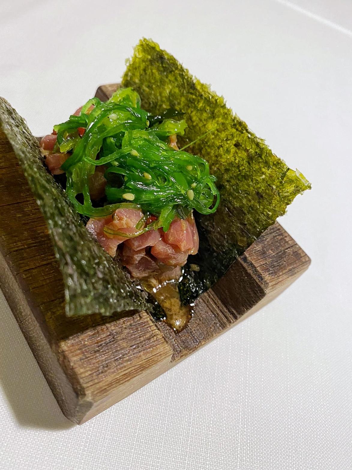 Taco de atún restaurante rocacho madrid
