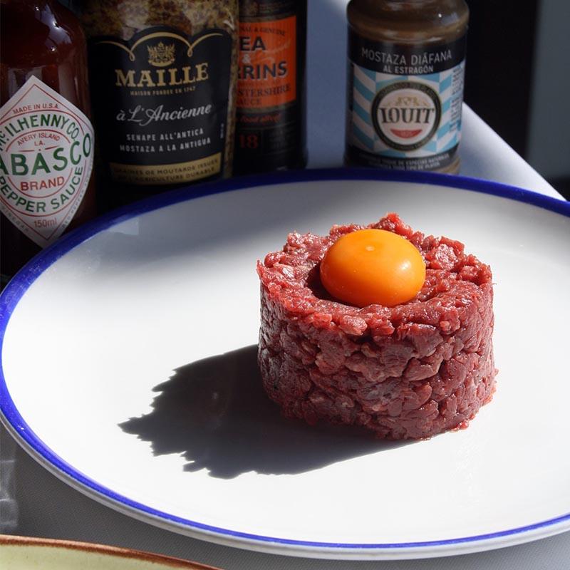 steak tartar de vaca de trabajo